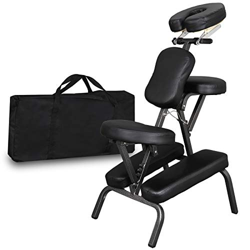 Portable Light Weight Massage Chair Leather Pad Travel Massage Tattoo Spa Chair w/Carrying Bag (#1)...
