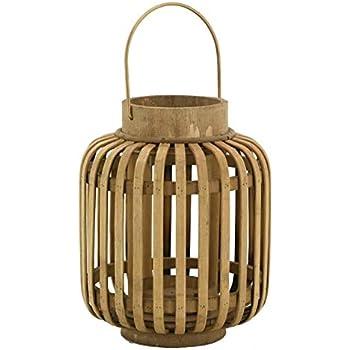 Lights4fun Lanterne en Bambou avec Bougie /à LED