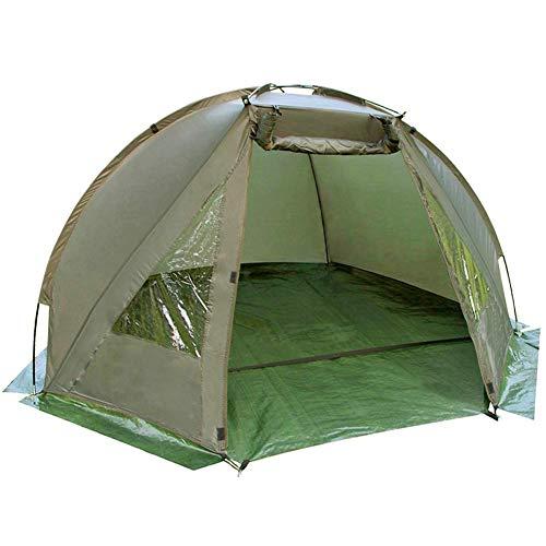 Carp Fishing Bivvy Tent Shelter | 1-2 Man Quick Erect Lightweight Waterproof Day Shelter | Includes Groundsheet & Carry Bag | Pukkr