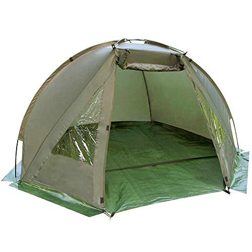 Carp Fishing Bivvy Tent Shelter | 1-2 Man Quick Erect Lightweight Waterproof Day Shelter | Includes Groundsheet & Carry Bag | M&W