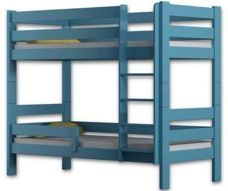 Hergestellt von der Qualität Kiefernholzetagenbettrahmen zwei Schläfer 180x80cm,Blue