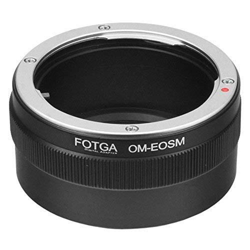 Fotga - Adaptador para objetivo Olympus OM a cámara Canon EOS M M1 M2 M3 EF-M sin espejo