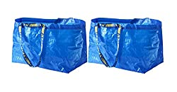 top 10 ikea laundry bag IKEA FRAKTA carry bag, blue, large shopping bag, 2 pcs.
