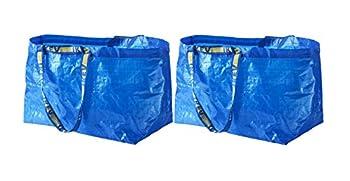IKEA FRAKTA Carrier Bag Blue Large Size Shopping Bag 2 Pcs Set