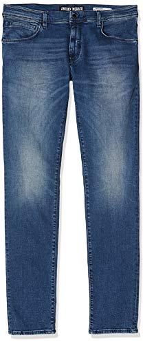 Antony Morato Jeans Skinny Barret-Power Stretch-Pilota Vaqueros, Azul (BLU Denim 7010), 40 (Talla del Fabricante: 30) para Hombre