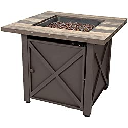 endless summer tabletop steel propane gas fire table