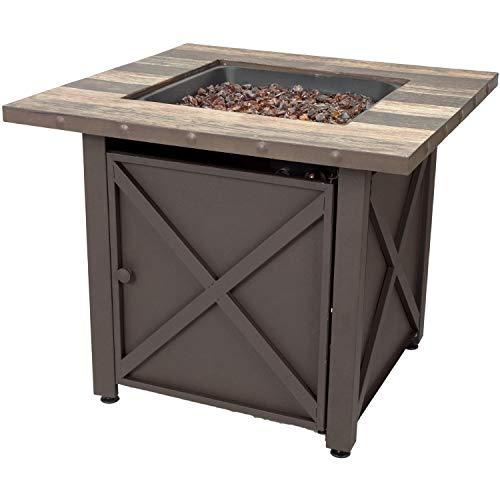 Endless Summer GAD15264SP 30-in W 50000-BTU Brown Tabletop Steel Propane Gas Fire Table -  Blue Rhino