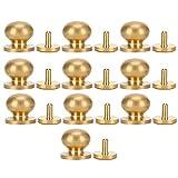 10 ensembles en cuir tête ronde Rivet 13x12mm vis solides goujons tête ronde Bronze Rivets pour sac en cuir chaussures réparations décoration