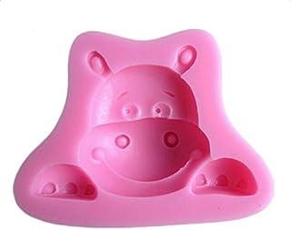 Vi.yo DIY Lindo Pequeño Bebé de Hipopótamo para Hornear Electrodomésticos de Silicona Utensilios de