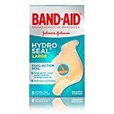Band-Aid Brand Hydro Seal Large Adhesive Bandages for Wound Care,Blisters, Cuts and Scrapes, All Purpose Waterproof Bandages, 6 Count