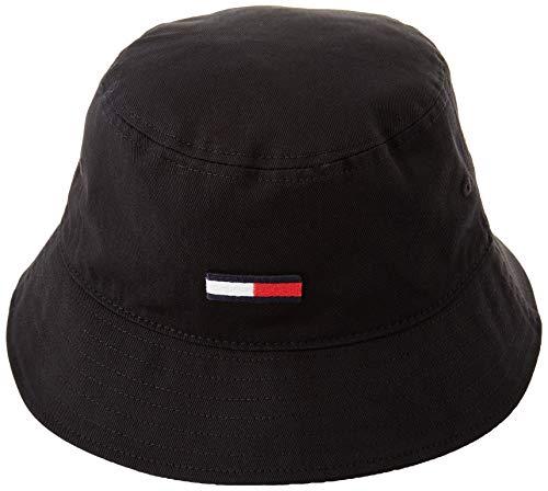 Tommy Jeans Tjm Flag Bucket Cappello, Nero, Taglia Unica Uomo