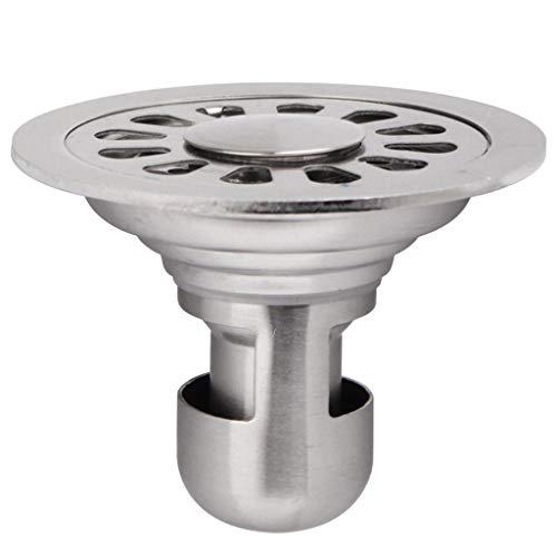 HJL Scarico a Pavimento Scarico a Pavimento a U a Forma di Deodorante Bagno di drenaggio Rotondo in Acciaio Inox 10cm