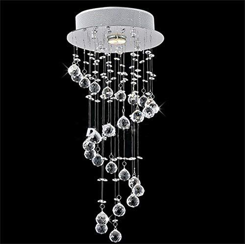 HIGHKAS Moderne einfache Spiral hängende Kristalllampe Runde LED Balkonlampe Gang Korridor Eingangsleuchten