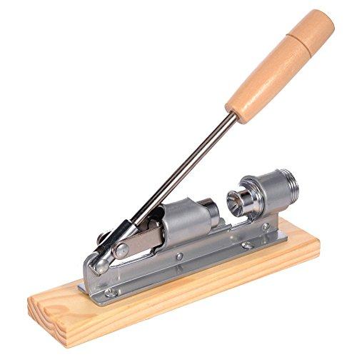 Lembeauty Nussknacker aus Edelstahl mit Holzgriff, mechanischer Schale, Nussöffner, Küchenwerkzeug