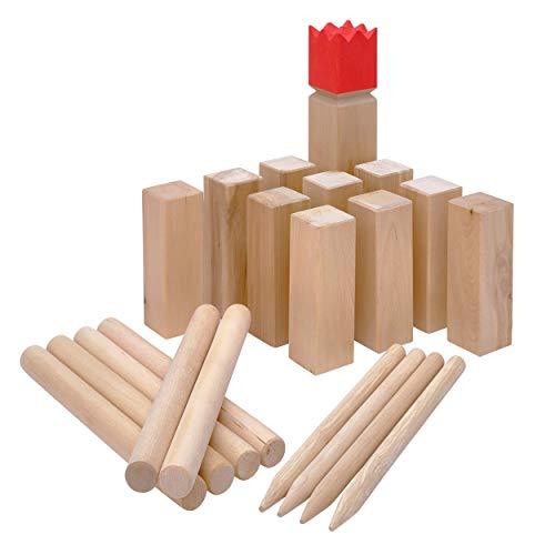 Ocean 5 Original Kubb Competition XXL, Wikinger Spiel, Holz - Birke, Premium Holzspiel aus Massivholz, Outdoor Geschicklichkeitsspiel für Kinder und Erwachsene, extra groß