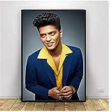 wzgsffs Bruno Mars Sänger Kunst Leinwand PosterHD