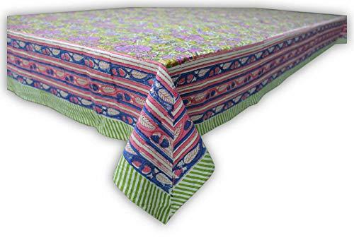 Mango Gifts Nappe indienne rectangulaire 100 % coton à motif floral 150 x 220 cm