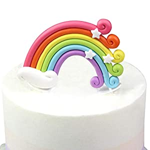 Cake/Food/Cupcake/Desert Decoration Banner Decorating Topper Kit Rainbow style perfect for holiday theme party birthdays Add style and elegance to your cakes and parties Perfect for holiday parties, birthdays, weddings, anniversaries, engagements, an...