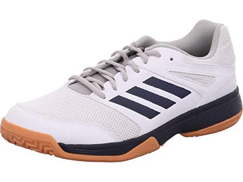 adidas Herren Performance Speedcourt EF2623 Volleyball-Schuh, Ftwwht/Conavy/Gum2, 43 1/3 EU