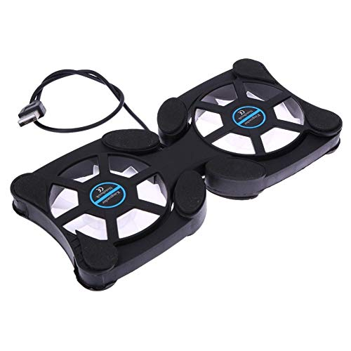 FrndzMartFoldable USB Laptop Cooling Pads with Double Fans Mini Octopus Notebook Cooler