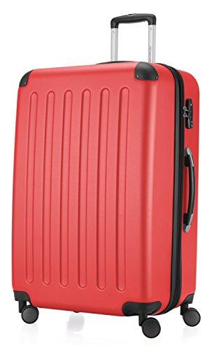 Hauptstadtkoffer - Spree 4 Rollen Hartschalen Reisekoffer Erweiterbar, 75 cm, 119 Liter, Rot