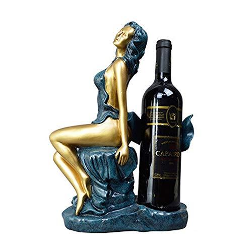 SYyshyin Artesanías De Resina Adornos De Decoración del Hogar Europeo Cinta Hermoso Vino Estante Bodas Regalos Creativos