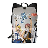 Fair-y Tail - Mochila para estudiantes, mochila de viaje para ordenador portátil, mochila de viaje, para niños, niñas, adolescentes, fans de juegos