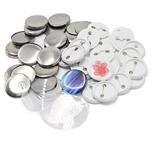100 Sets Pin Back Button Parts for …