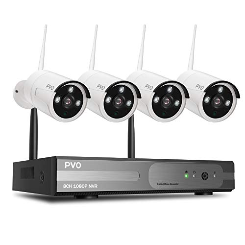 PVO Surveillance NVR Kits, 8 Channel Home Security...