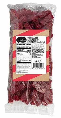 Darrell Lea Strawberry Soft Australian Made Licorice 1.925 lb Bulk Bag - NON-GMO, Palm Oil Free, NO HFCS, Vegetarian & Kosher - America's #1 Soft Eating Licorice Brand!