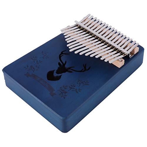 Healifty Kalimba 17 Tasten Daumen Klavier Tragbare Finger Klavier Geschenke mit Stimmhammer für Kinder Und Erwachsene Anfänger Blau