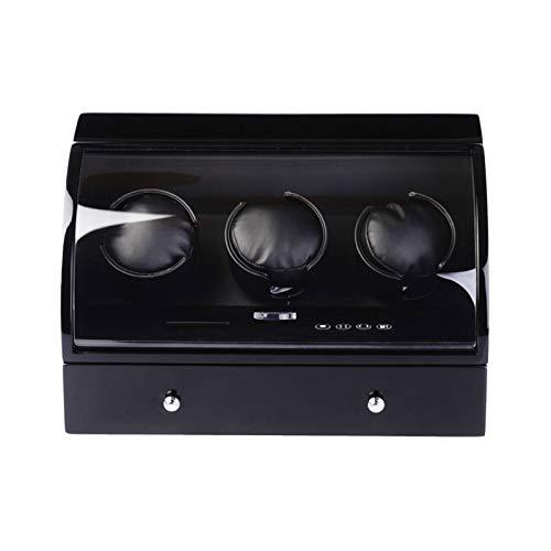 ZIXIXI Cajas giratorias 3 + 4 Automatico Caja De Almacenamiento De Relojes, Pantalla LCD Táctil Watch Winder Tiene Capacidad For 7 Relojes(Color:Segundo)