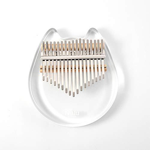 Sxgyubt Nalu NK-CT Crystal Cat 17 clave Kalimba acrílico pulgar Piano Mbira instrumento de teclado transparente, Nk-ct, tamaño único