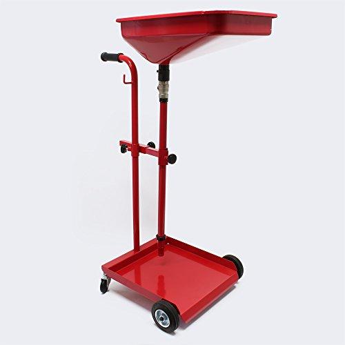 WilTec Récupérateur d'huile Vidange Mobile Chariot Récupération d'huile usées Récupération Huiles Nettoyage