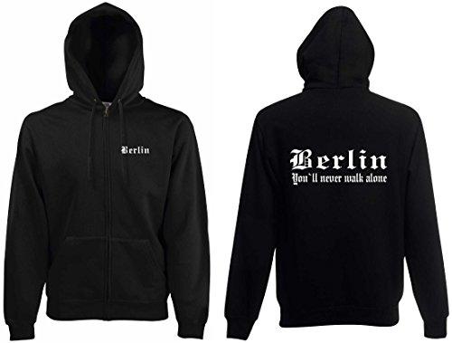 world-of-shirt Herren Kapuzenjacke Berlin Ultras
