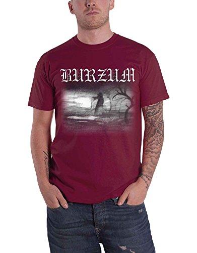 Burzum T Shirt Aske 2013 Band Logo Nue offiziell Herren Maroon