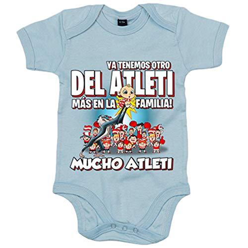 Body bebé ya tenemos otro del Atleti más en la familia - Celeste, Talla única 12 meses