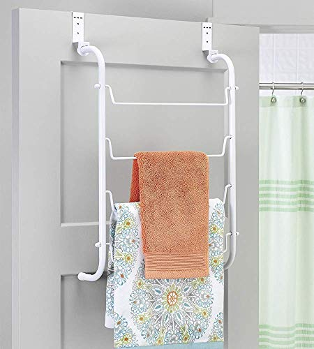 Whitmor Over The Door, White Towel Rack, Medium