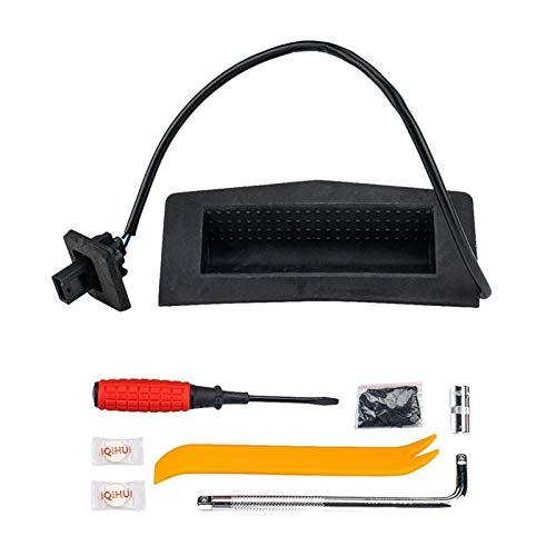 Daojun Interruptor de Apertura de la manija de la Puerta del Tronco Trasero del Trasero del Coche 6240399 con Ajuste de la Herramienta para Vauxhall Astra H (Color : Black)