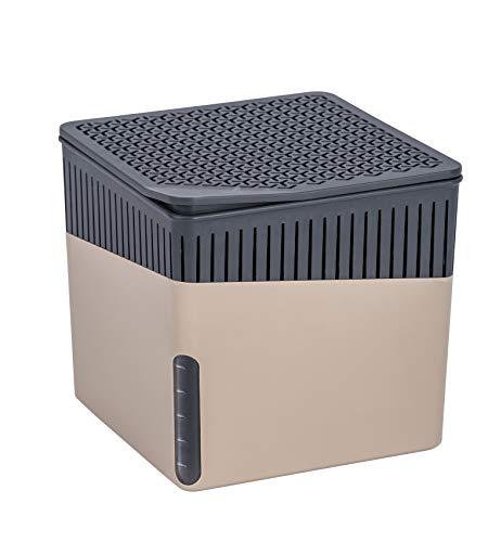 WENKO Deshumificador Cube 1000 g beis Capacidad: 1.6 l, Plástico (ABS), 16.5 x 15.7 x 16.5 cm, Beige