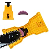 SDMS Chainsaw Sharpener, Portable Chain Saw Blade Teeth Sharpener Work Sharp Fast-Sharpening Stone Grinder Tools Suitable for 14/16/18/20 Inch One/Two Holes Chain Saw Bar