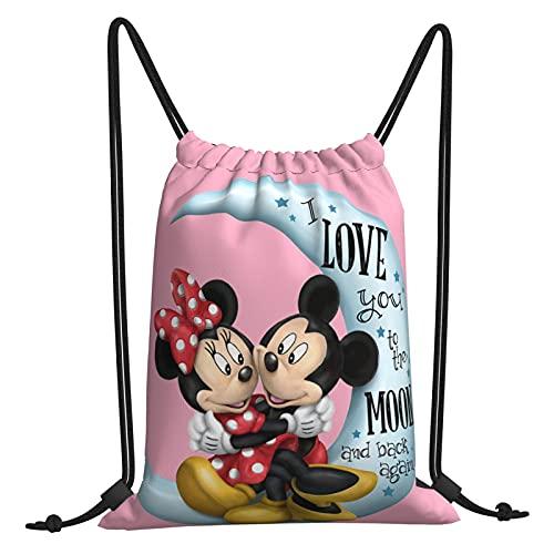 Mi-Ckey Mou-Se Bolsa de gimnasio con cordón, bolsa de viaje, bolsa de playa, para hacer ejercicio al aire libre, correr, natación, mochila unisex de 30,4 x 40,6 cm
