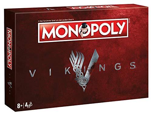 Winning Moves 45533 Monopoly Vikings: Der Brettspielklassiker trifft Wikinger Serie, mit exklusiven Sammler-Spielfiguren, Gesellschaftsspiel