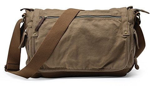 Gootium 30622AMG Classic Canvas Shoulder Bag - Fits Laptops Up To 15.6',Army Green …