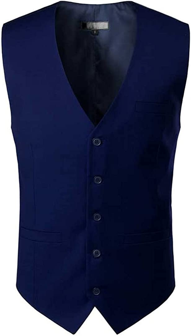 Ciystekn Royal Blue Mens Dress Suit Vest 2021 New Sleeveless Vests Waistcoat Men Formal Business Wedding Vests Male Gilet Homme Navy US Size L