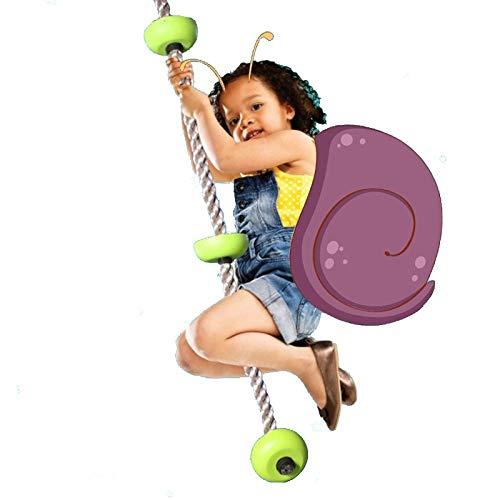 SXZHSM cuerda de escalada de nudo de plástico para niños, adecuada para niños Fitness escalada cuerda para interior y exterior de la casa marco de puerta árboles-200 kg