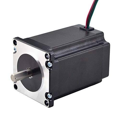 STEPPERONLINE Nema 23 Motor paso a paso 2.4Nm (340 onzas) 4.0A 8mm eje 57x57x82mm 4 alambres