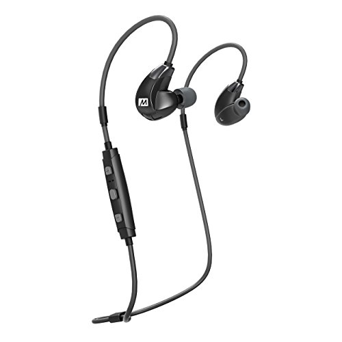 MEE audio EP-X7Plus-BK-MEE Stereo Bluetooth Wireless Sports in-Ear HD Headphones