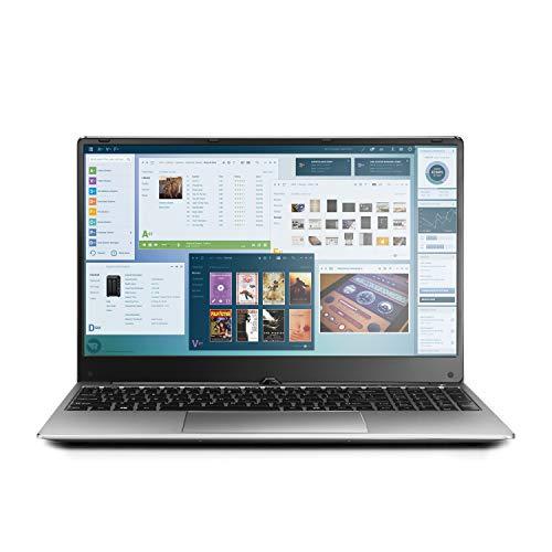 Broage 15.6″ 1920×1080 FHD IPS Display Laptop Computer, Intel Quad-Core i7-8550U up to 4.0GHZ, 8GB RAM, 1TB SSD, Webcam, USB 3.0, Bluetooth, 5G WiFi, Backlit Keyboard, Silver, Windows 10 Home