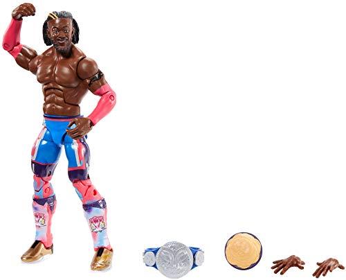 WWE GKY12 - Elite Collection Action Figur (15 cm) Kofi Kingston, Actionfigur ab 8 Jahren